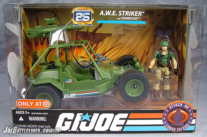 Target Exclusive GIJoe Awe Striker with Crankcase