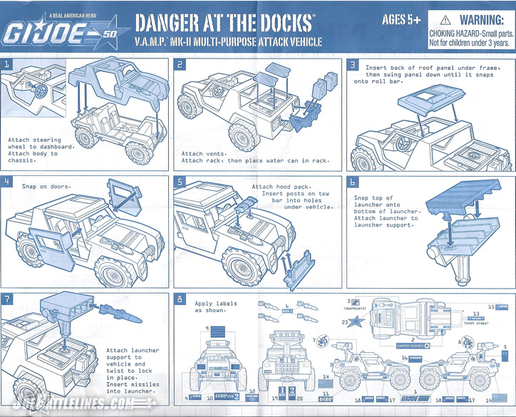 G.I. Joe 50th Anniversary Danger at the Docks VAMP Mk 2