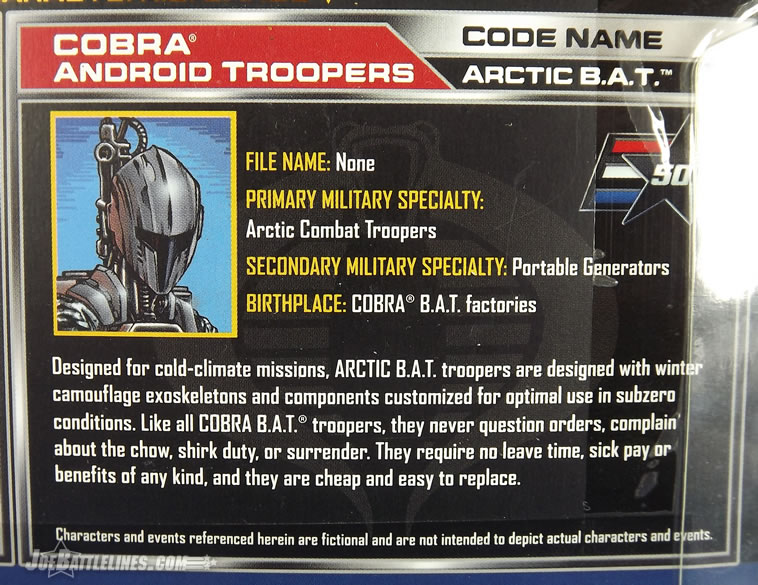 G.I. Joe 50th Anniversary Arctic Threat Battle Android Trooper