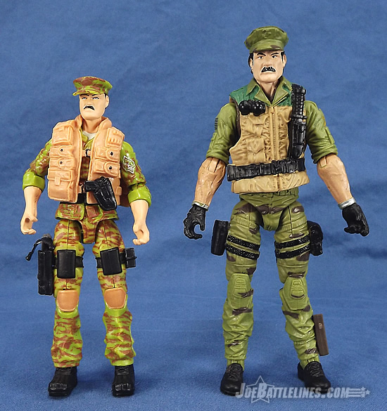 G.I. Joe 50th Anniversary Leatherneck comparison