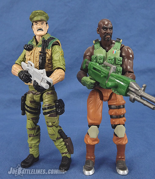 G.I. Joe 50th Anniversary Leatherneck and Resolute Roadblock