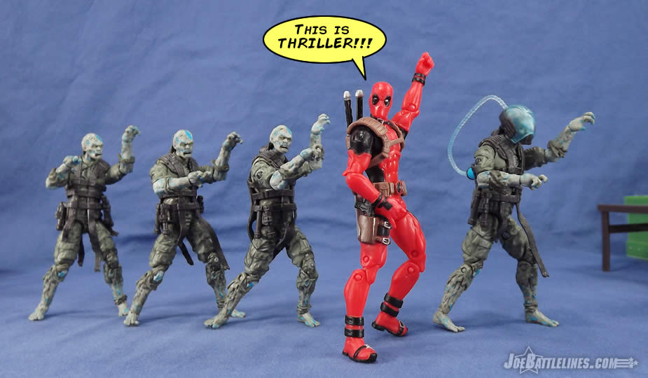 G.I. Joe Zombie Viper Deadpool Thriller dance