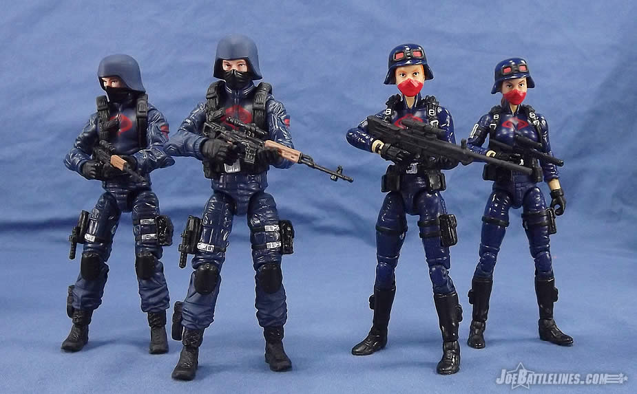 Female Cobra Troopers and Blueshirts