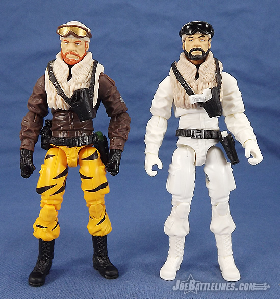 G.I. Joe FSS 3 Frostbite Joe Con Tiger Force comparison
