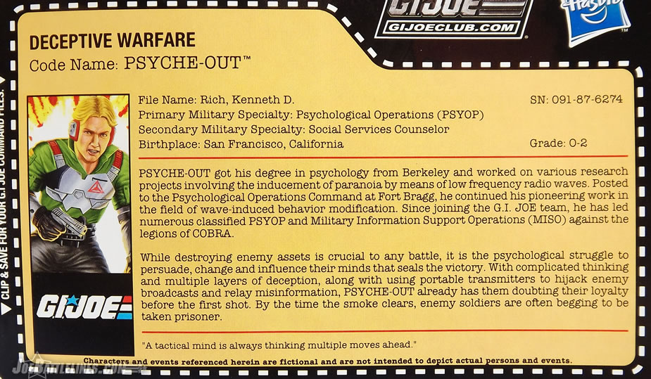 G.I. Joe Collector's Club FSS Psyche-Out