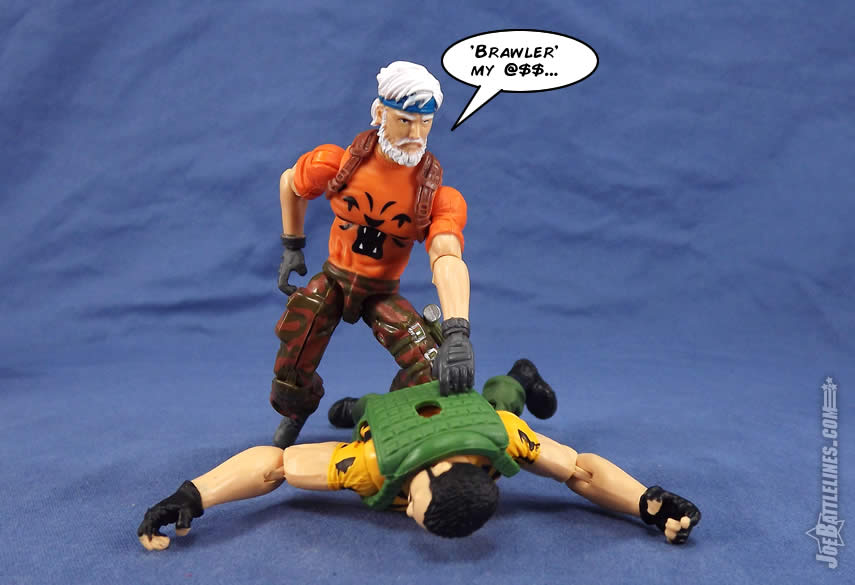 G.I. Joe FSS 4 Tiger Force Outback vs Big Brawler
