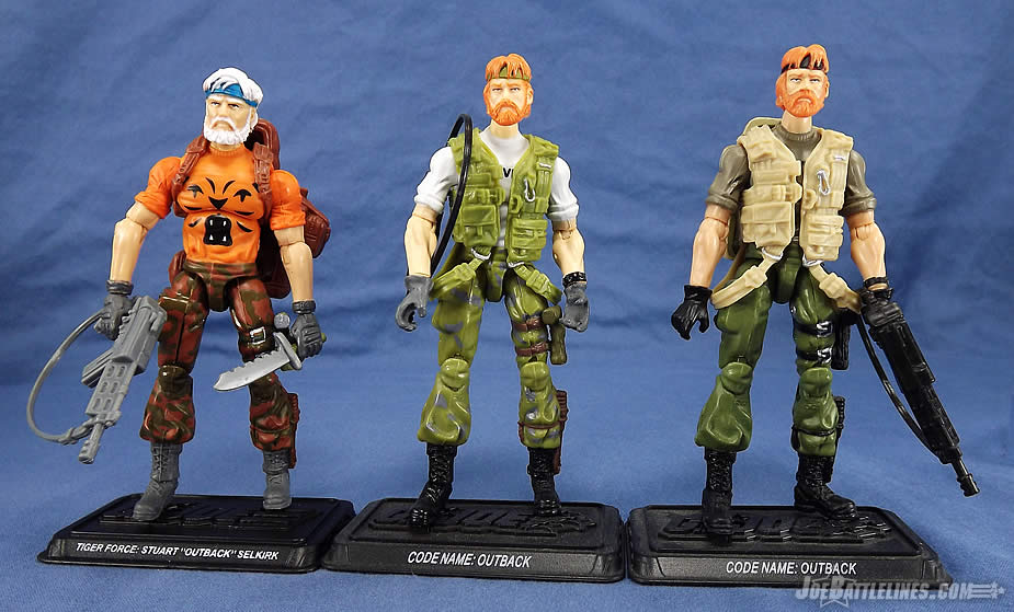 G.I. Joe FSS 4 Tiger Force Outback comparison