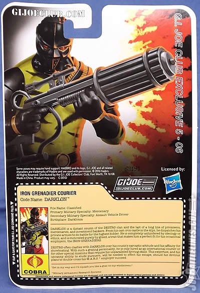 G.I. Joe FSS 5 Darklon card back