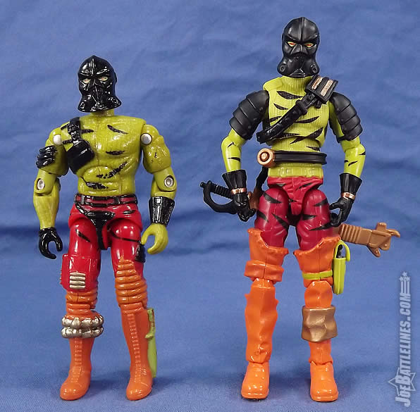 G.I. Joe FSS 5 Darklon vintage comparison