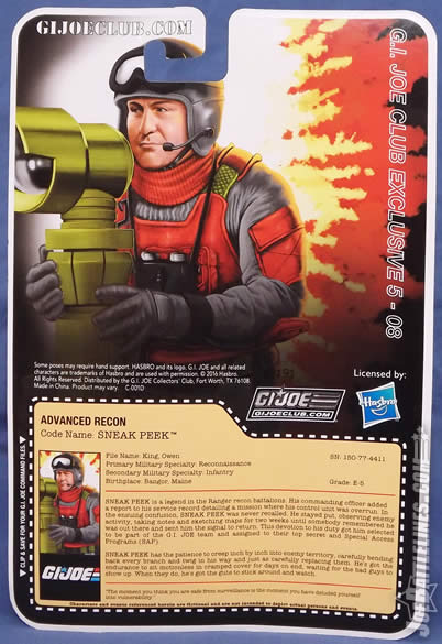 G.I. Joe FSS 5 Sneak Peek card back