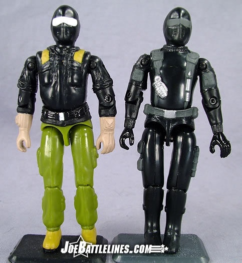 Comic pack Snake Eyes comparison