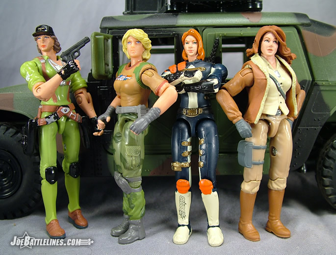 Lady Jaye, Bombstrike, Scarlett, and Cover Girl