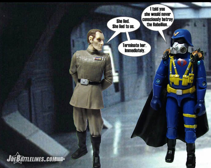 gas mask Cobra Trooper and Tarkin