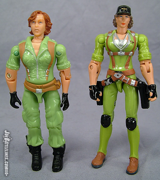 Comparison of comic pack & Spy Troops Lady Jaye