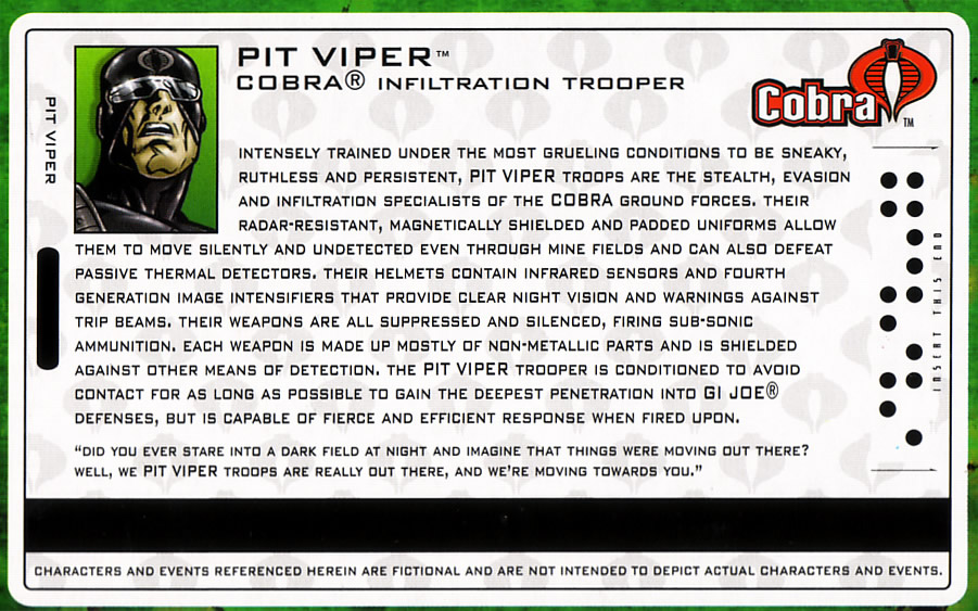 Pit Viper filecard