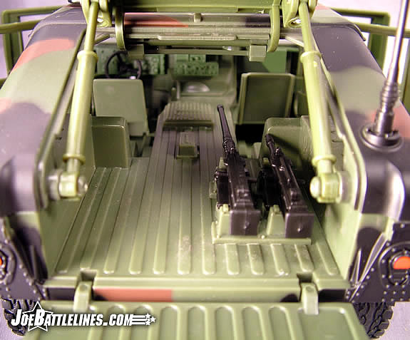 Jungle Strike Humvee back interior