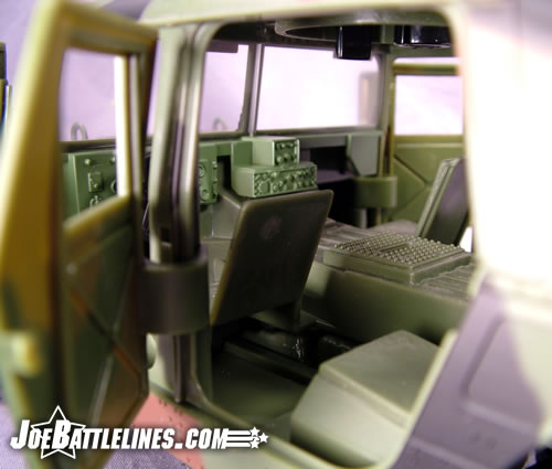 Jungle Strike Humvee cab interior