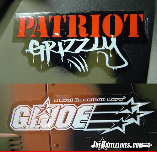 Patriot Grizzly decals