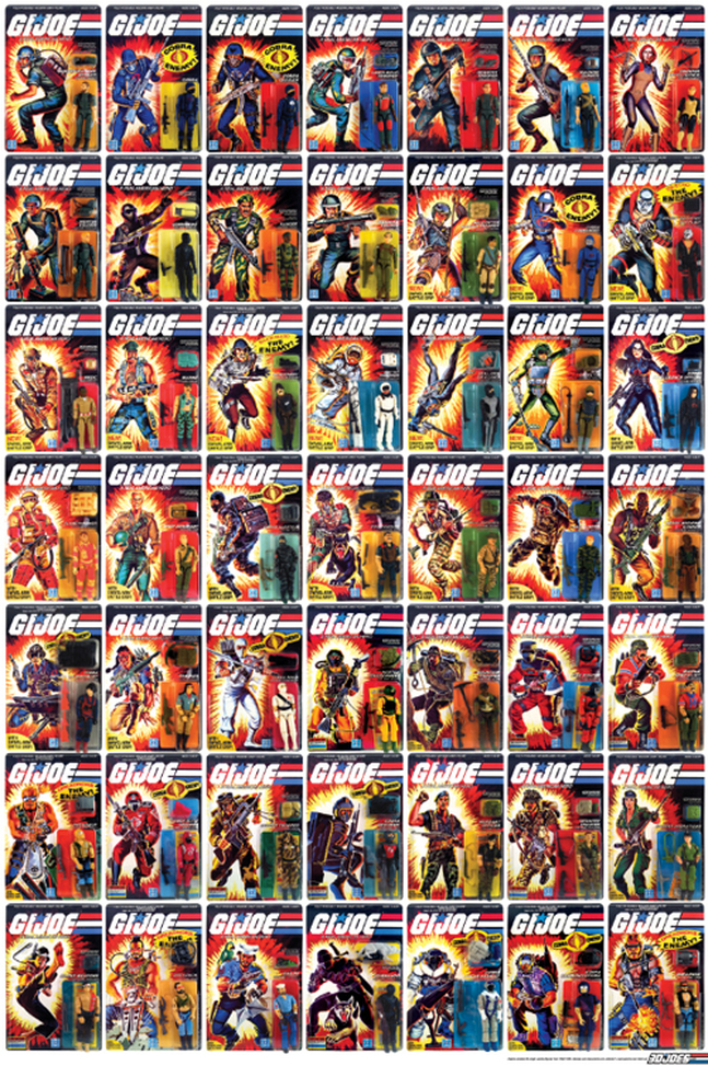 3DJoes.com 1982 - 1985 card art poster project.