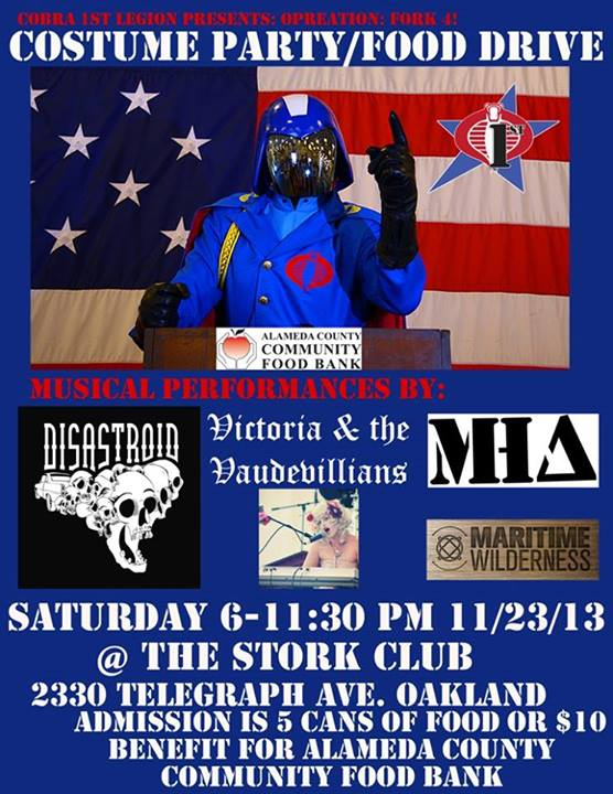 Cobra 1st Legion costume party and food drive