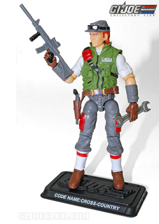 G.I. Joe Collector's Club Cross Country production sample