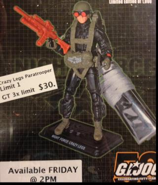 G.I. Joe Convention Night Force Crazy Legs