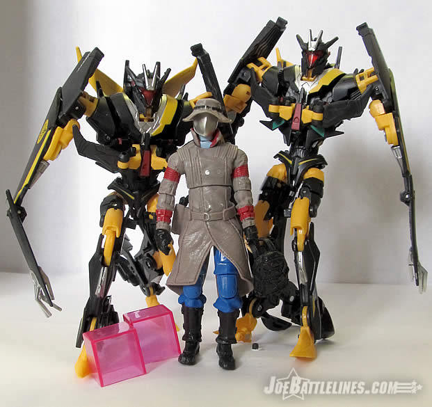 G.I. Joe & the Transformers Old Snake & Stealth BAT duo